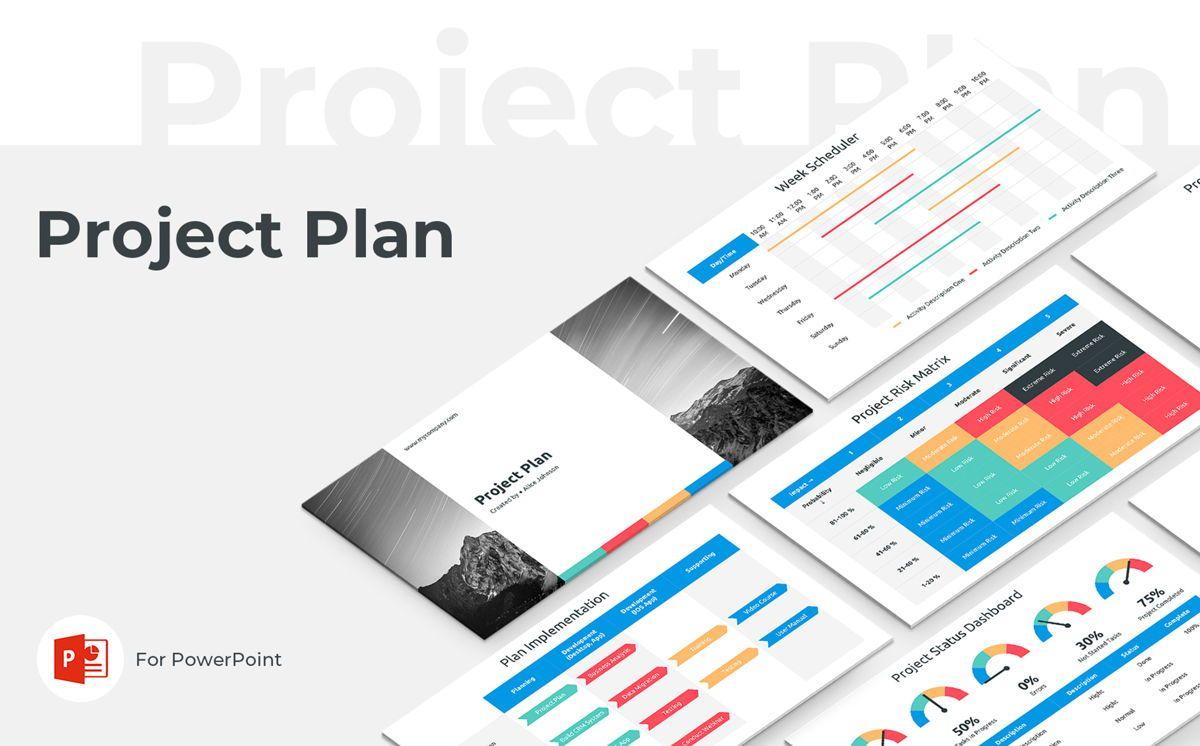Project Plan PowerPoint Presentation Template, 06112, Business Models — PoweredTemplate.com