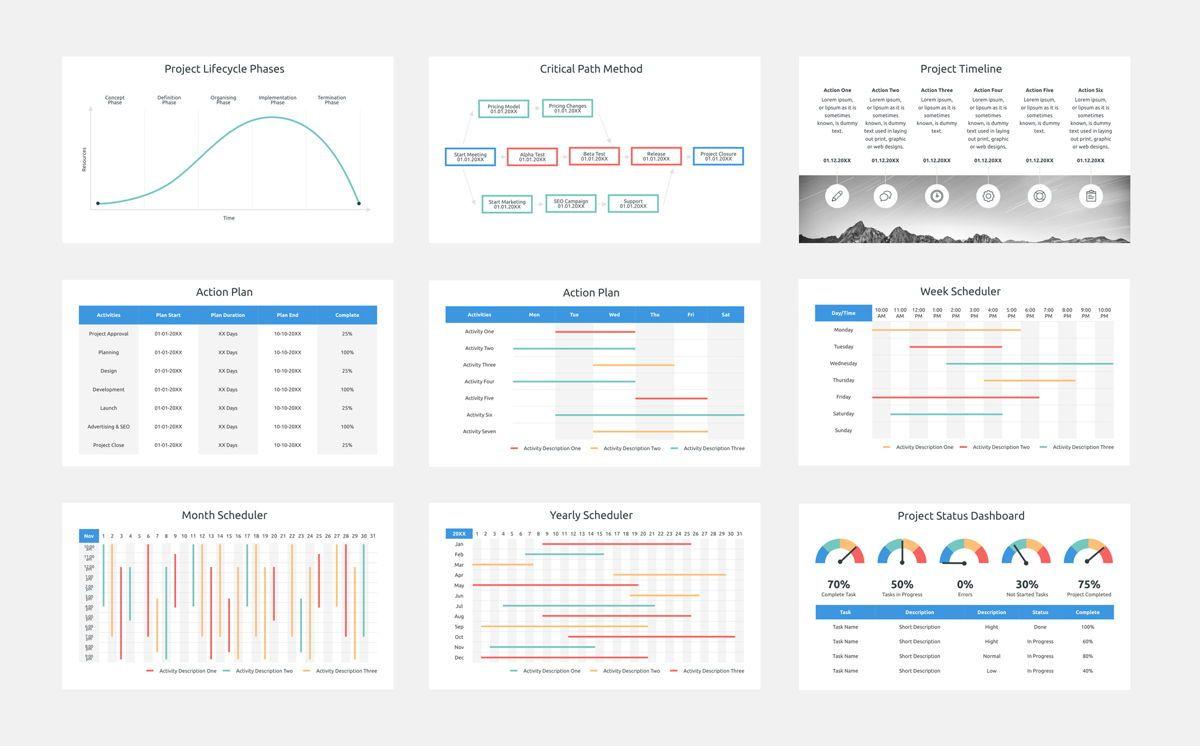Project Plan PowerPoint Presentation Template, Slide 3, 06112, Business Models — PoweredTemplate.com
