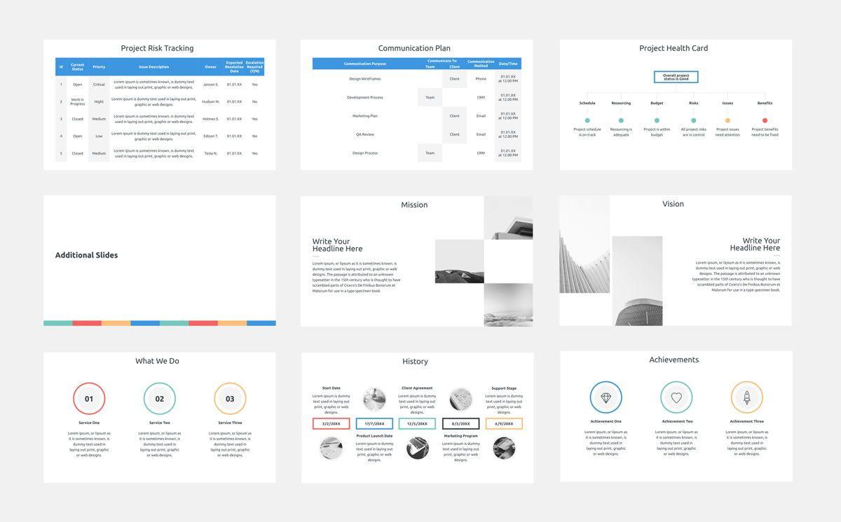 Project Plan PowerPoint Presentation Template, Slide 5, 06112, Business Models — PoweredTemplate.com