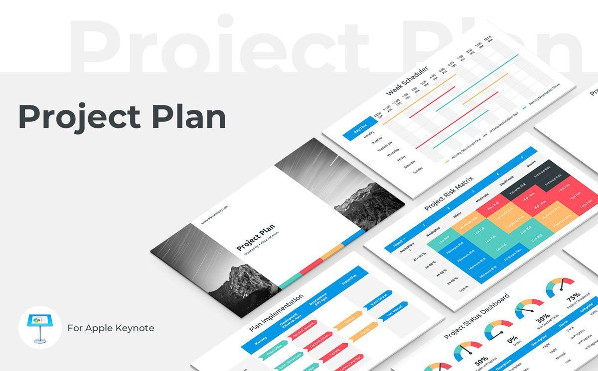 Project Plan Keynote Presentation Template, 06113, Business Models — PoweredTemplate.com