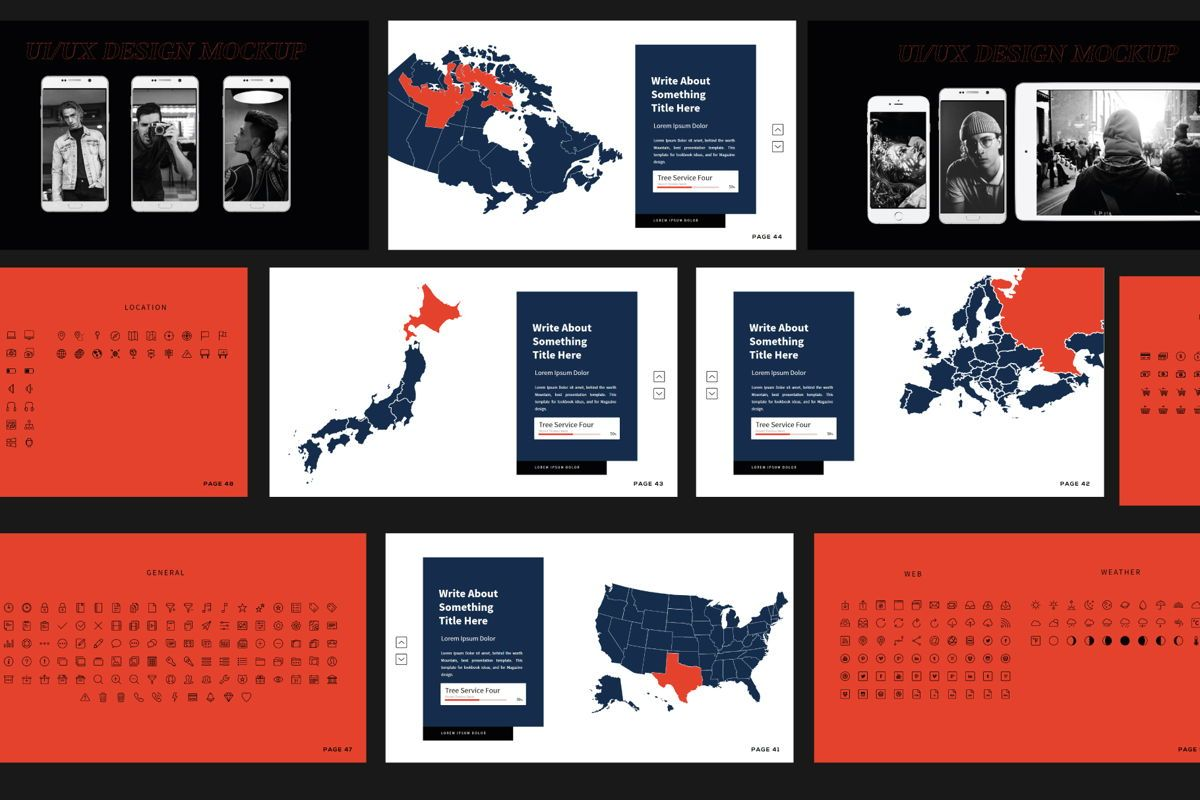 Xavier Business Presentation Template, Slide 8, 06114, Presentation Templates — PoweredTemplate.com