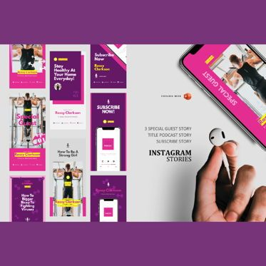 Infographics: Podcast instagram stories and post template #06115