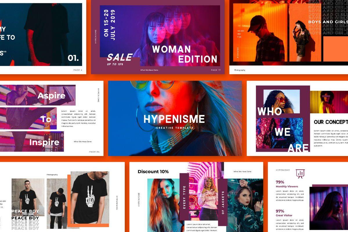 Hypenisme Brand Keynote, 06117, Presentation Templates — PoweredTemplate.com