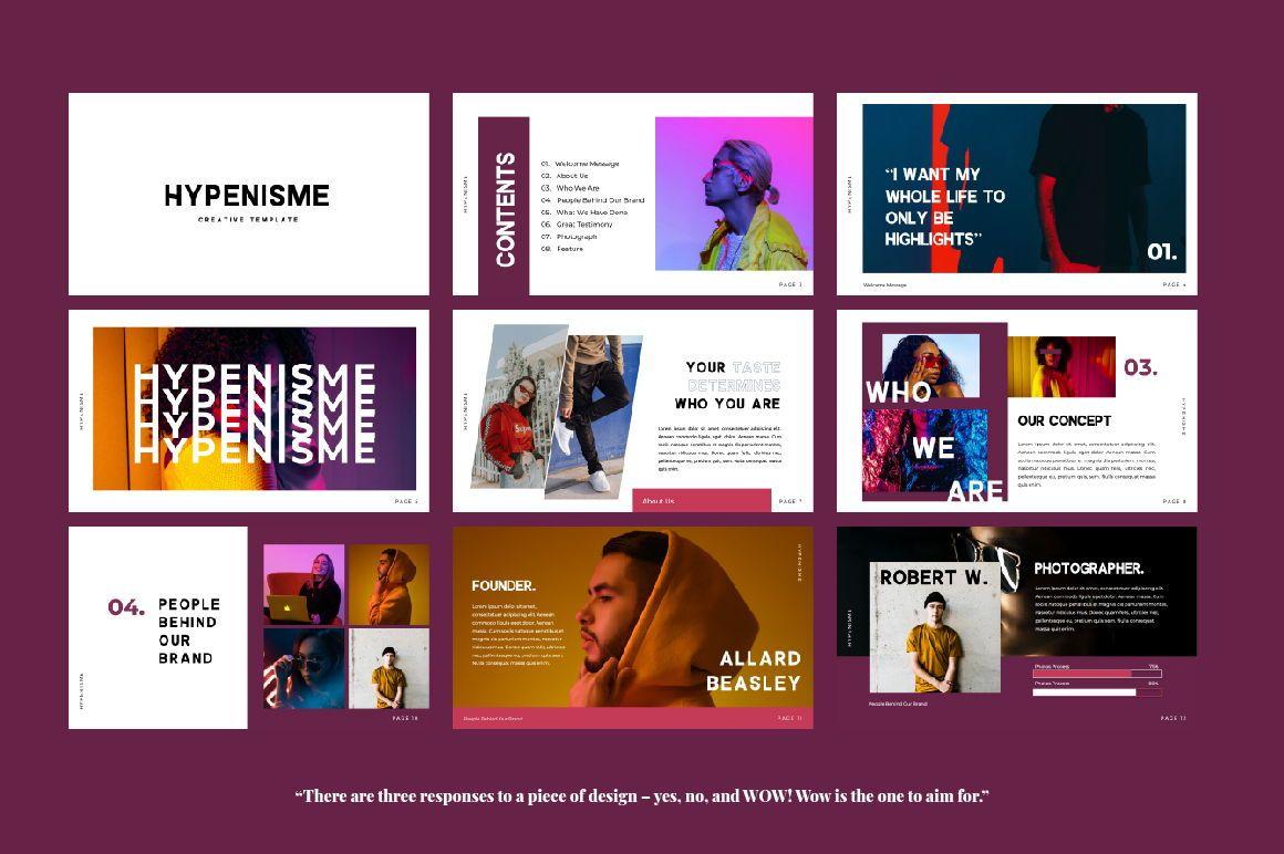 Hypenisme Brand Keynote, Slide 6, 06117, Presentation Templates — PoweredTemplate.com