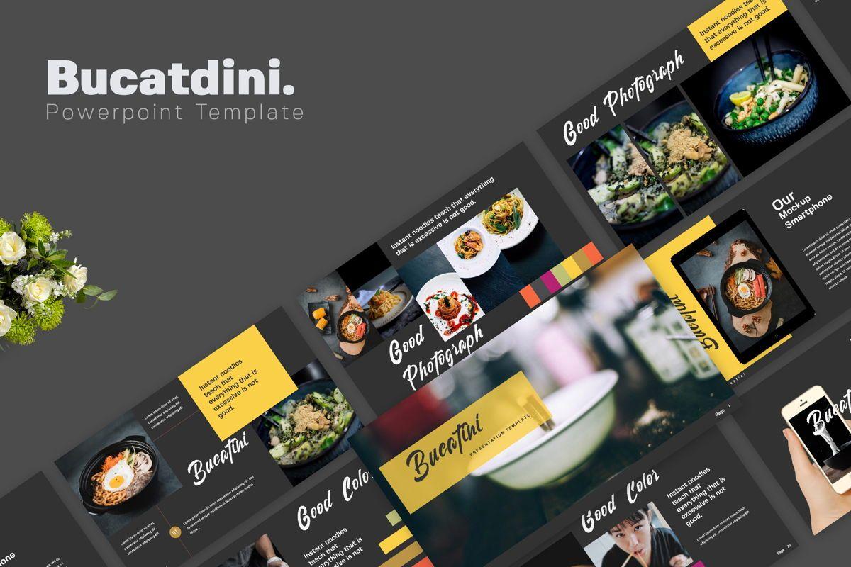 Bucatini Creative Powerpoint, 06119, Presentation Templates — PoweredTemplate.com
