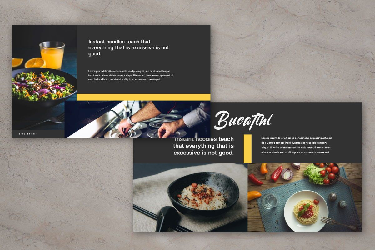 Bucatini Creative Powerpoint, Slide 5, 06119, Presentation Templates — PoweredTemplate.com
