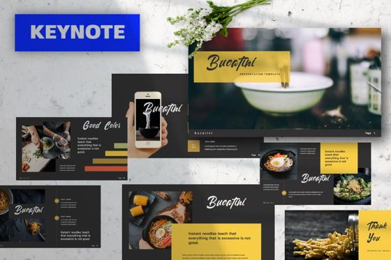 Presentation Templates: Bucatini Creative Keynote #06120
