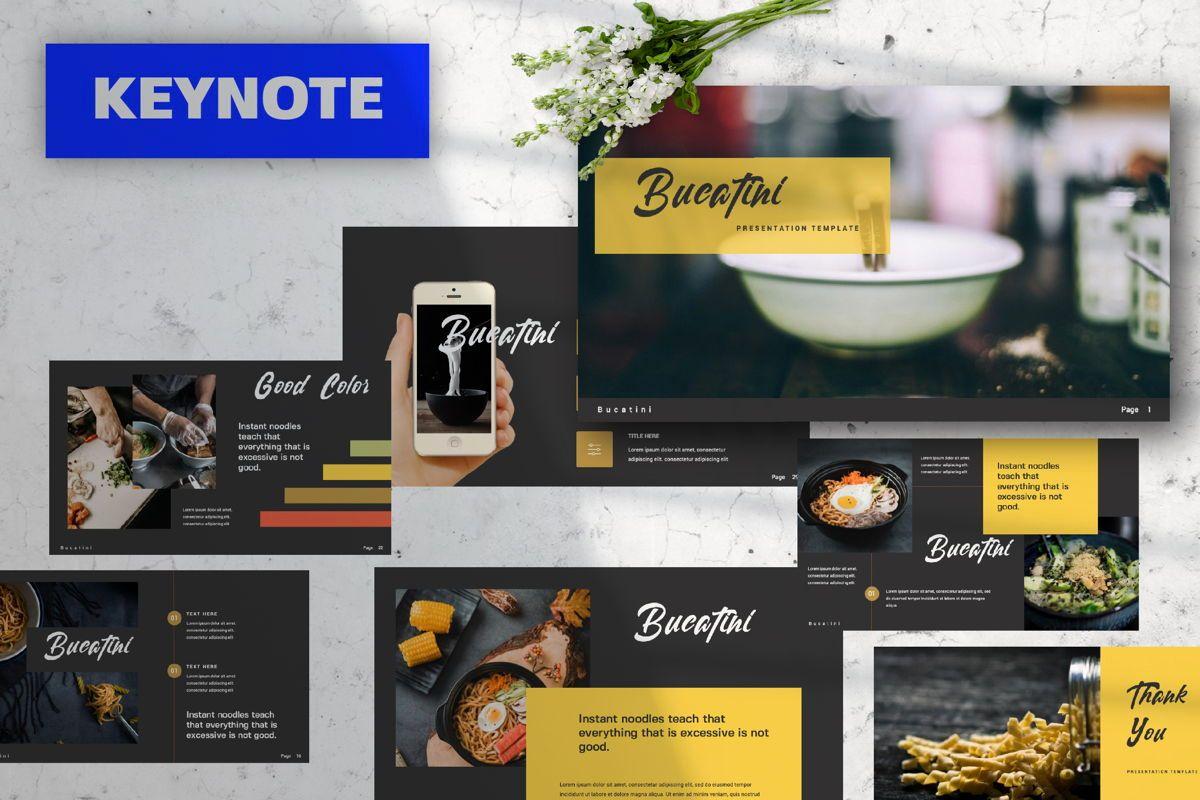 Bucatini Creative Keynote, 06120, Presentation Templates — PoweredTemplate.com