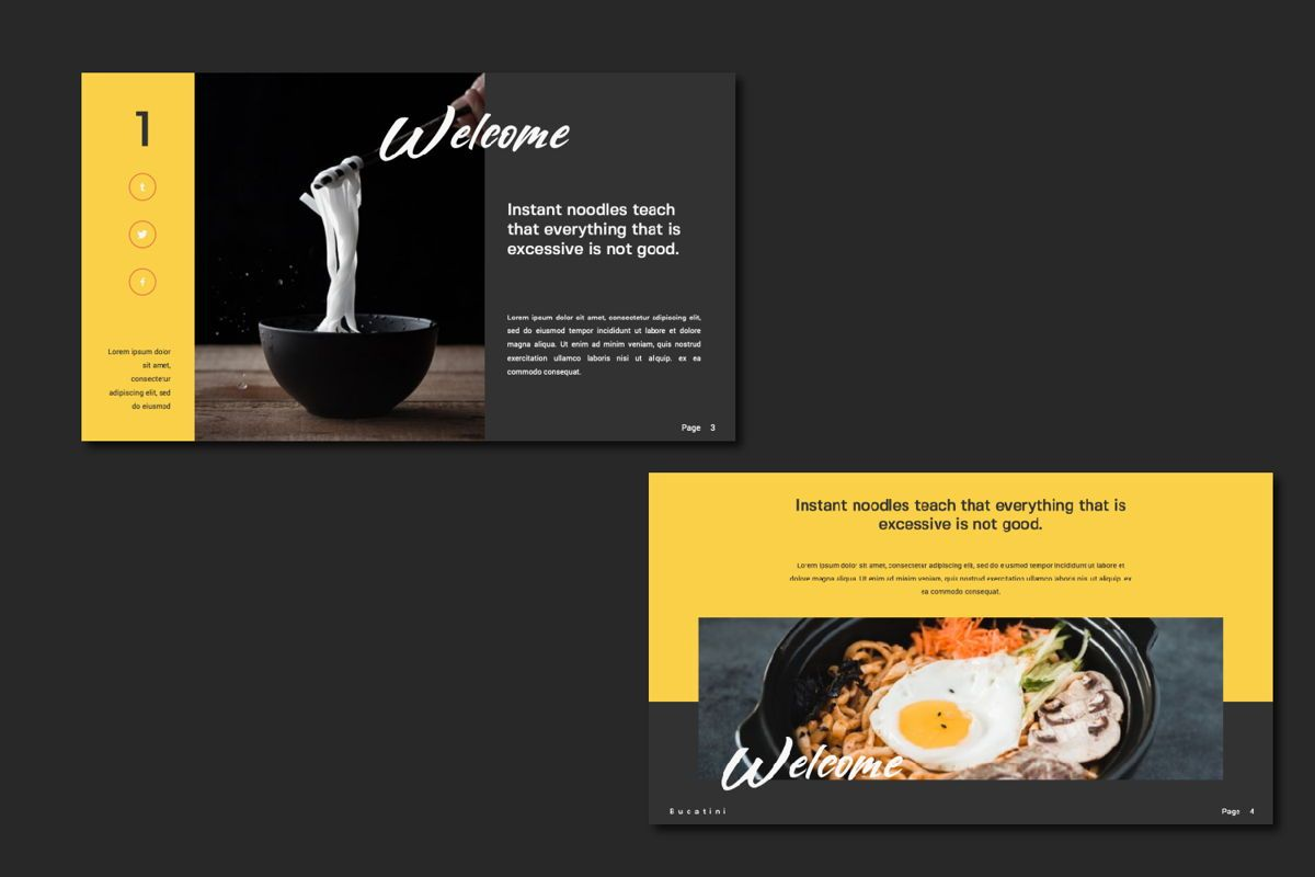 Bucatini Creative Keynote, Slide 6, 06120, Presentation Templates — PoweredTemplate.com