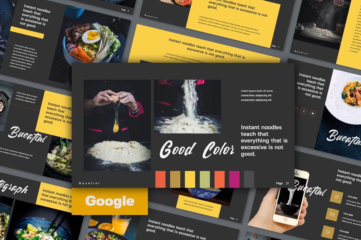 Bucatini Creative Google Slide, 06121, Presentation Templates — PoweredTemplate.com