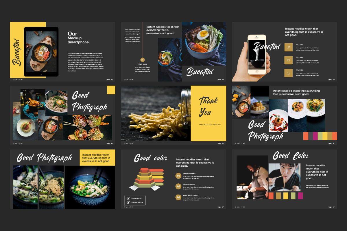 Bucatini Creative Google Slide, Slide 2, 06121, Presentation Templates — PoweredTemplate.com