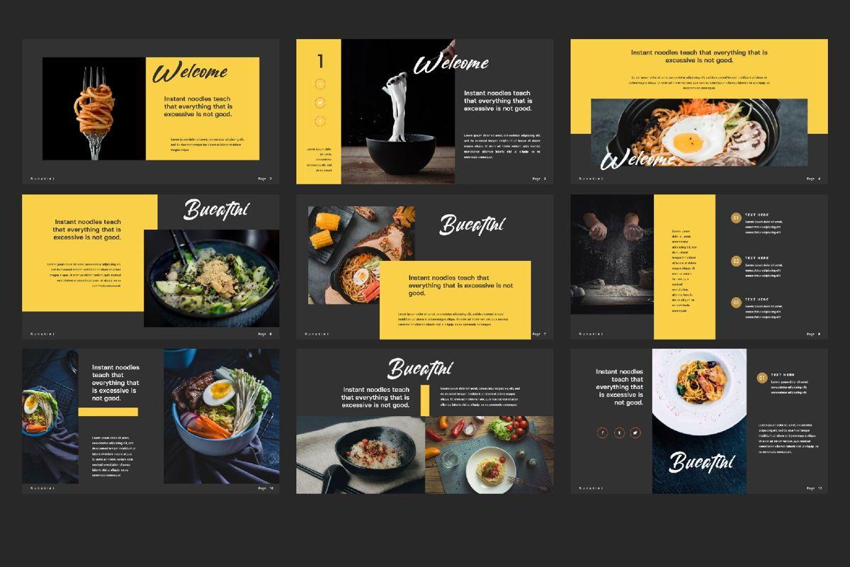 Bucatini Creative Google Slide, Slide 3, 06121, Presentation Templates — PoweredTemplate.com