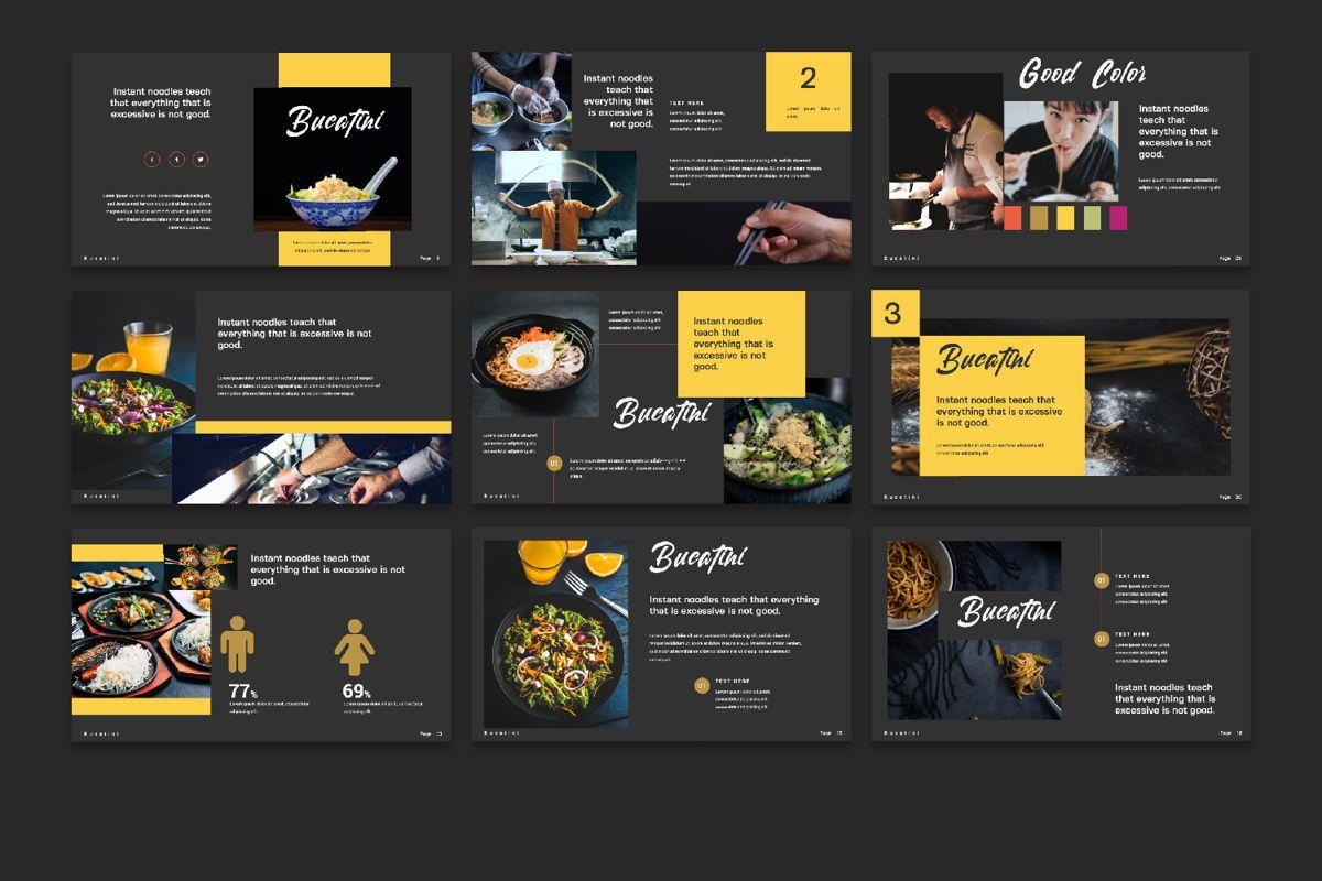 Bucatini Creative Google Slide, Slide 4, 06121, Presentation Templates — PoweredTemplate.com