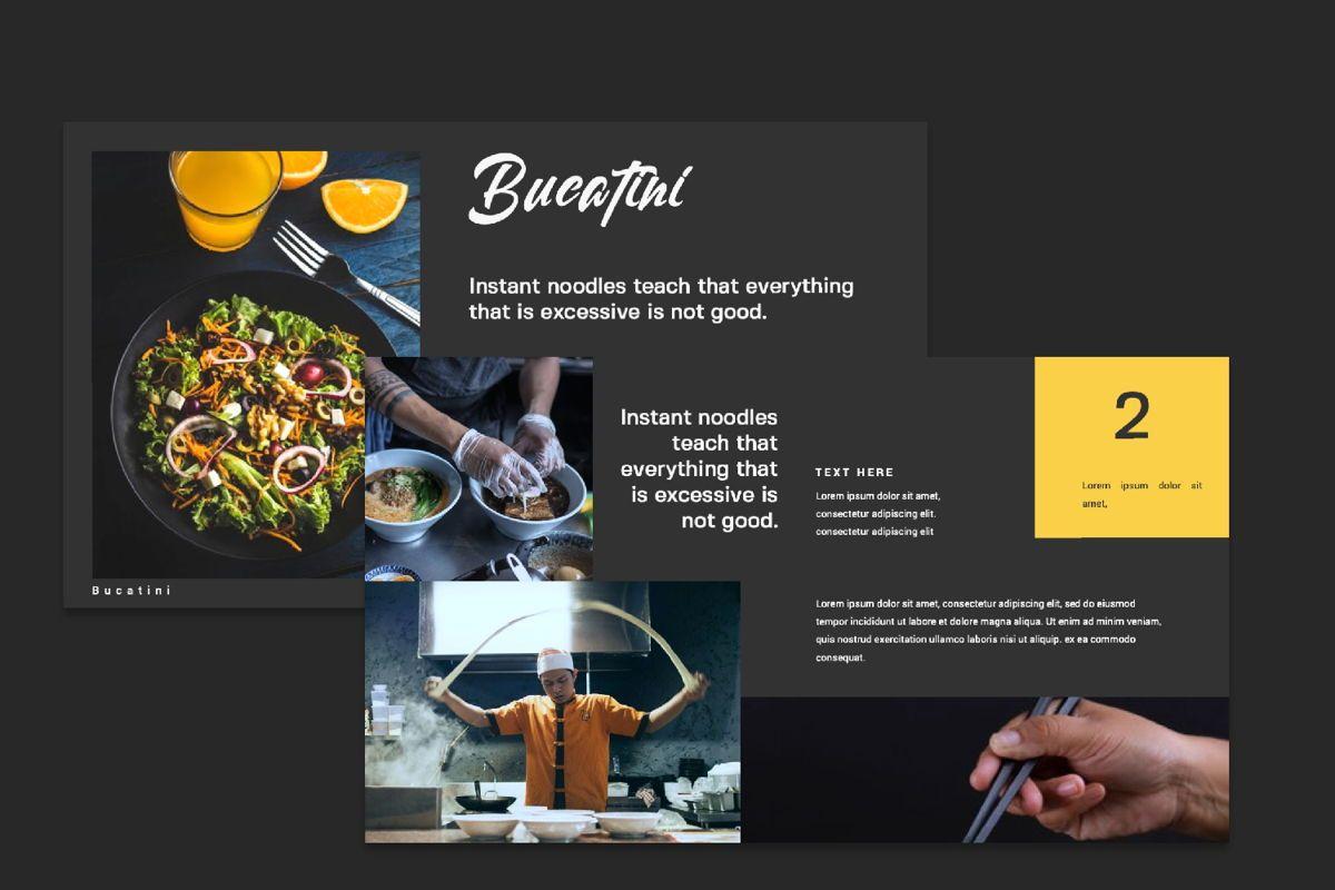 Bucatini Creative Google Slide, Slide 7, 06121, Presentation Templates — PoweredTemplate.com
