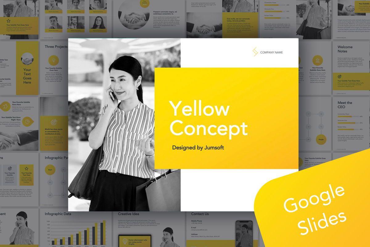 Yellow Concept Google Slides Template, 06122, Presentation Templates — PoweredTemplate.com