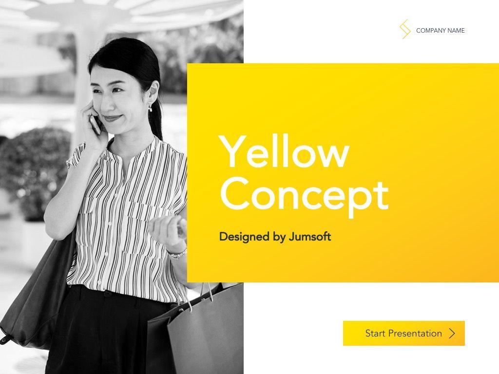 Yellow Concept Google Slides Template, Slide 2, 06122, Presentation Templates — PoweredTemplate.com