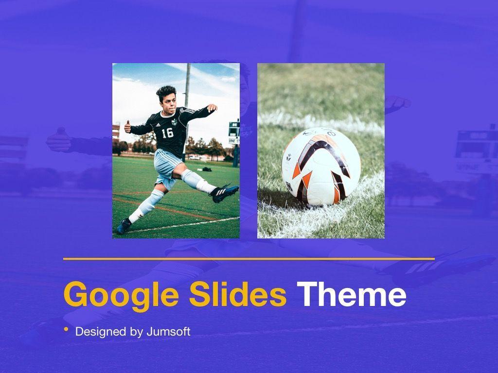 Soccer Google Slides Theme, Slide 11, 06123, Presentation Templates — PoweredTemplate.com