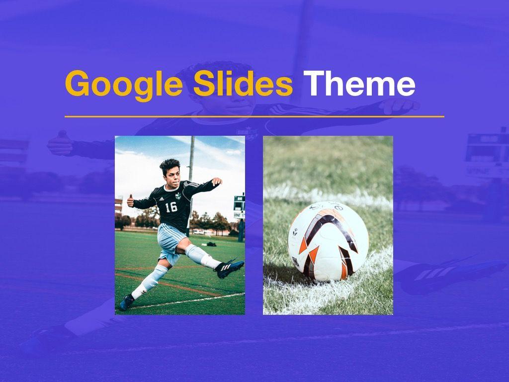 Soccer Google Slides Theme, Slide 13, 06123, Presentation Templates — PoweredTemplate.com