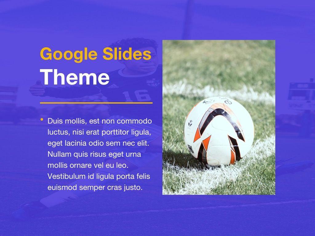 Soccer Google Slides Theme, Slide 14, 06123, Presentation Templates — PoweredTemplate.com