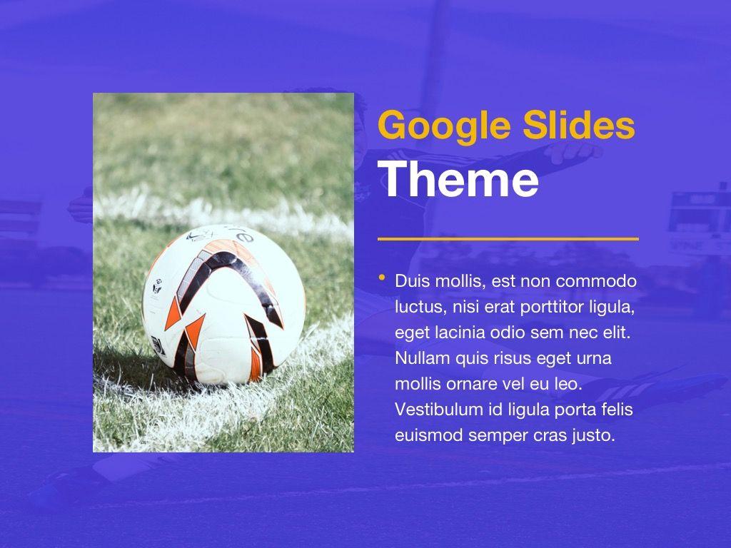 Soccer Google Slides Theme, Slide 15, 06123, Presentation Templates — PoweredTemplate.com