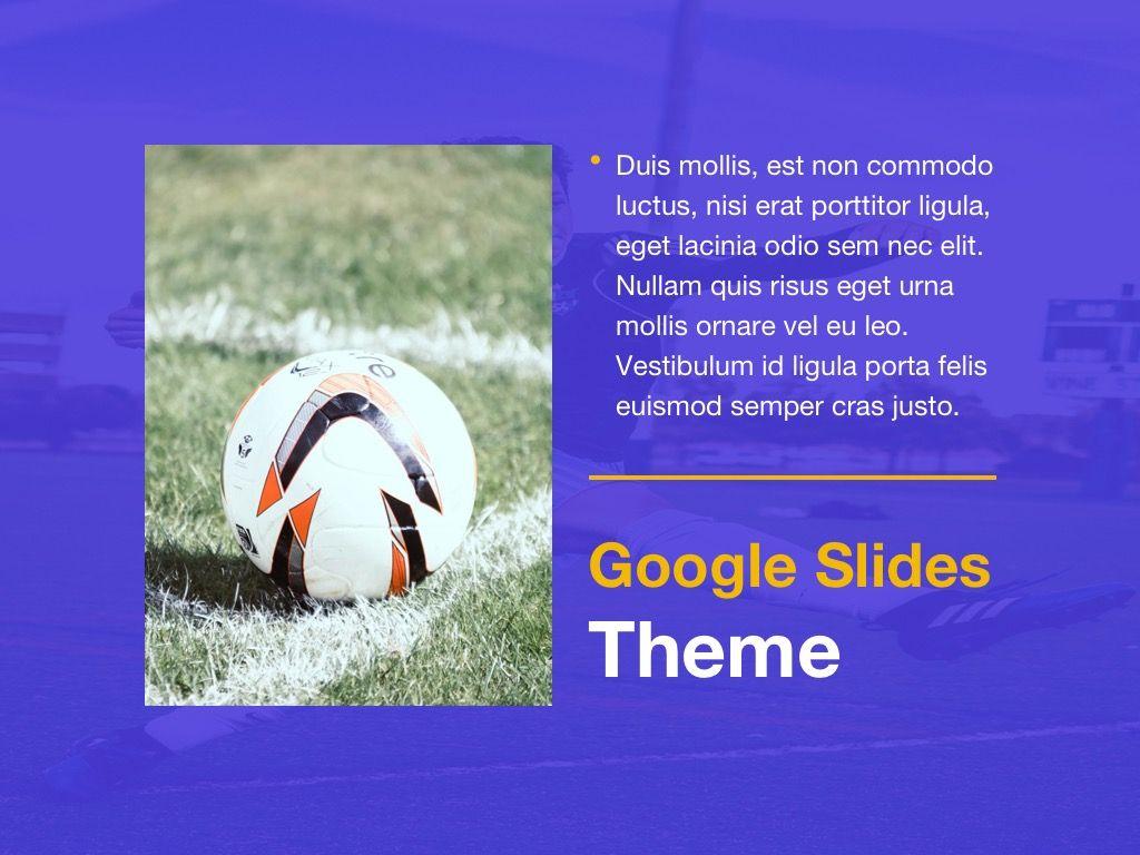 Soccer Google Slides Theme, Slide 17, 06123, Presentation Templates — PoweredTemplate.com