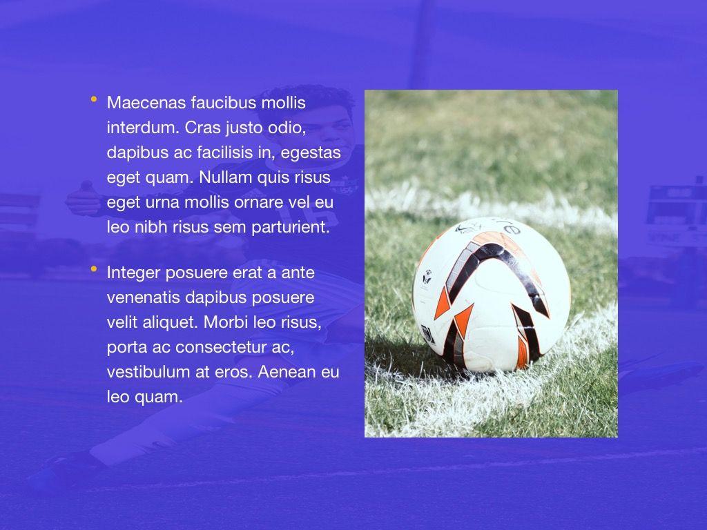 Soccer Google Slides Theme, Slide 18, 06123, Presentation Templates — PoweredTemplate.com