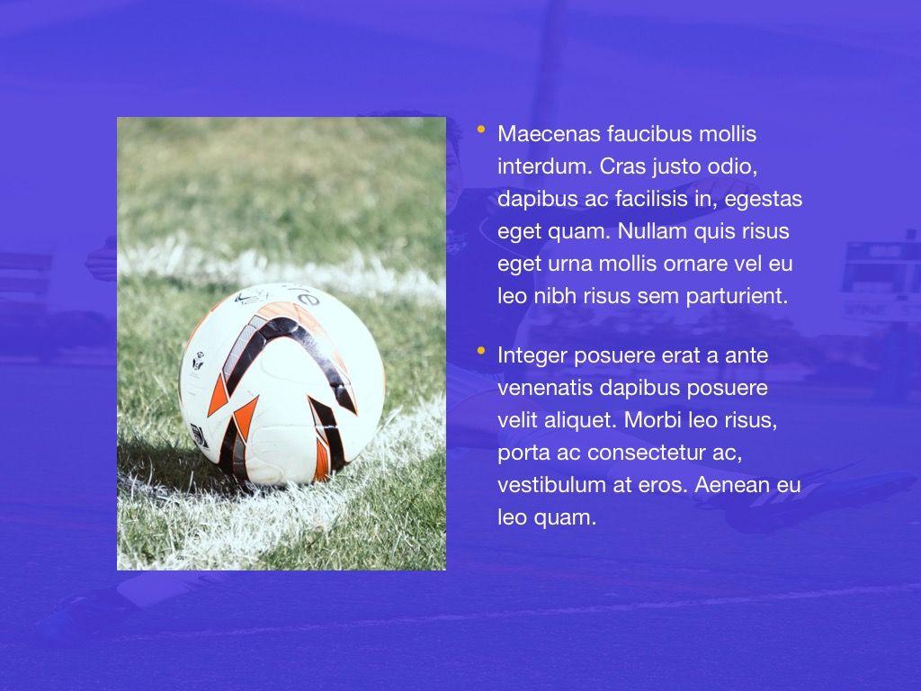 Soccer Google Slides Theme, Slide 19, 06123, Presentation Templates — PoweredTemplate.com