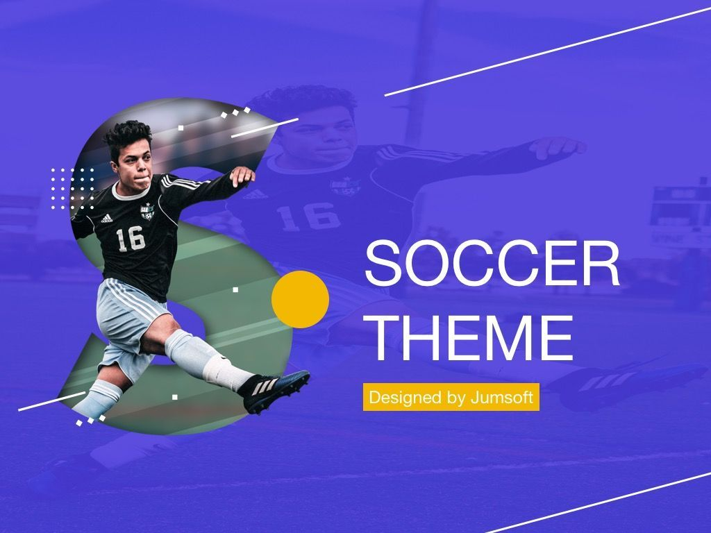 Soccer Google Slides Theme, Slide 2, 06123, Presentation Templates — PoweredTemplate.com