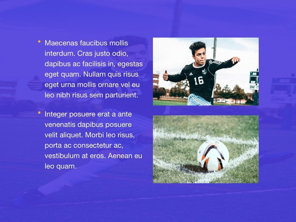 Soccer Google Slides Theme, Slide 20, 06123, Presentation Templates — PoweredTemplate.com