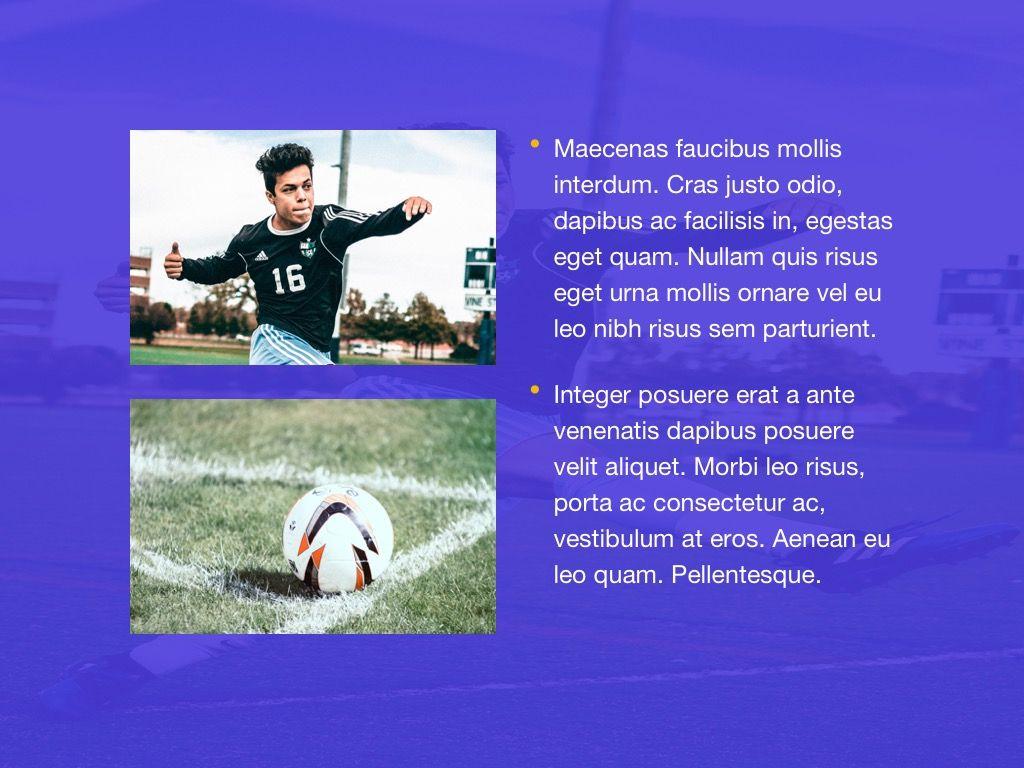 Soccer Google Slides Theme, Slide 21, 06123, Presentation Templates — PoweredTemplate.com