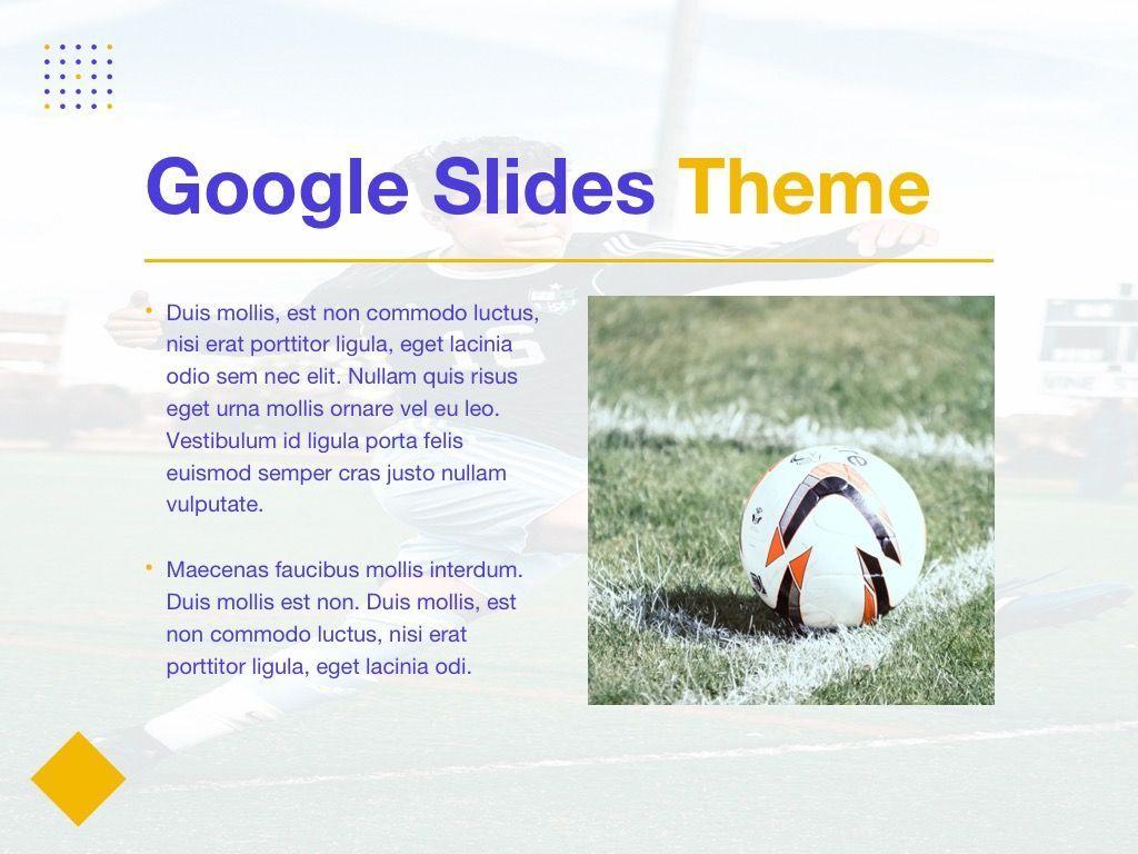 Soccer Google Slides Theme, Slide 27, 06123, Presentation Templates — PoweredTemplate.com