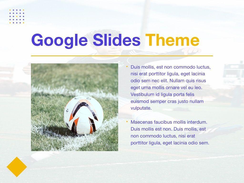 Soccer Google Slides Theme, Slide 28, 06123, Presentation Templates — PoweredTemplate.com