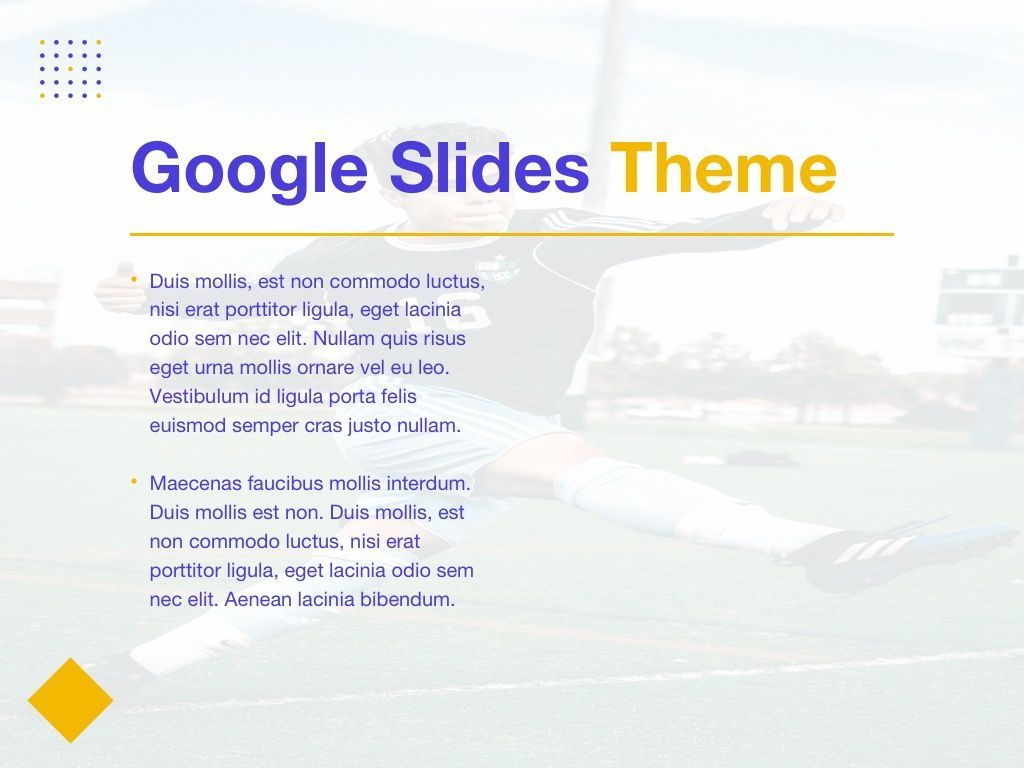 Soccer Google Slides Theme, Slide 29, 06123, Presentation Templates — PoweredTemplate.com