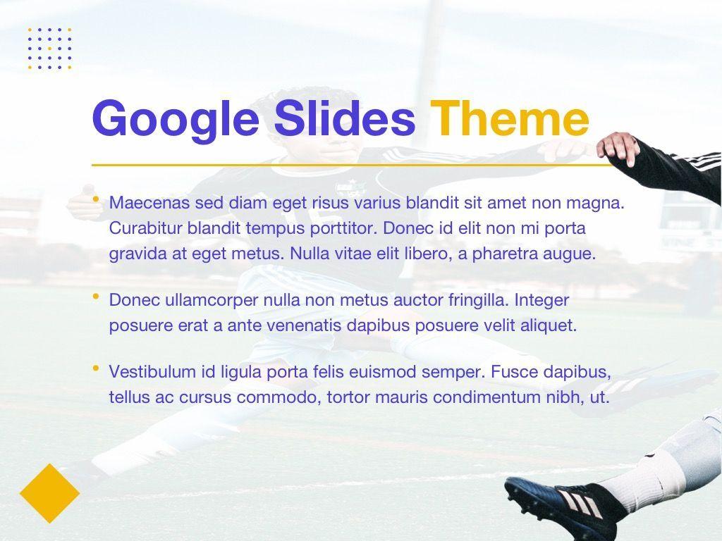 Soccer Google Slides Theme, Slide 3, 06123, Presentation Templates — PoweredTemplate.com