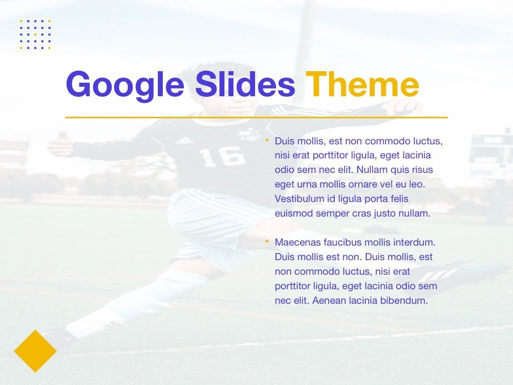 Soccer Google Slides Theme, Slide 30, 06123, Presentation Templates — PoweredTemplate.com