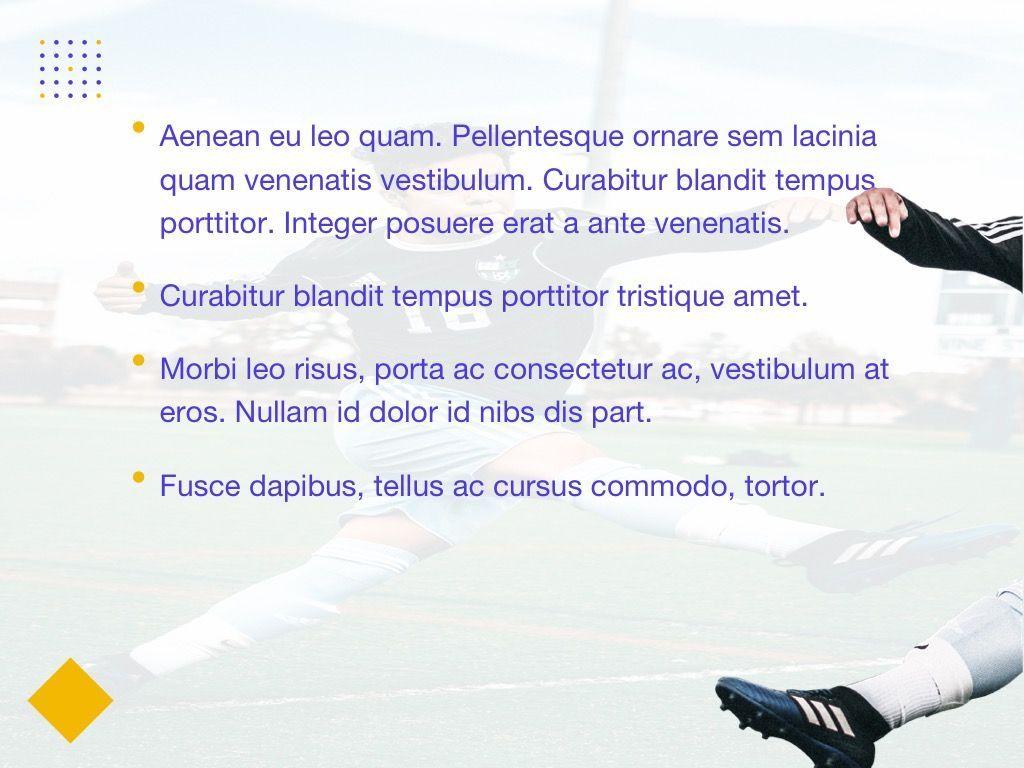 Soccer Google Slides Theme, Slide 4, 06123, Presentation Templates — PoweredTemplate.com
