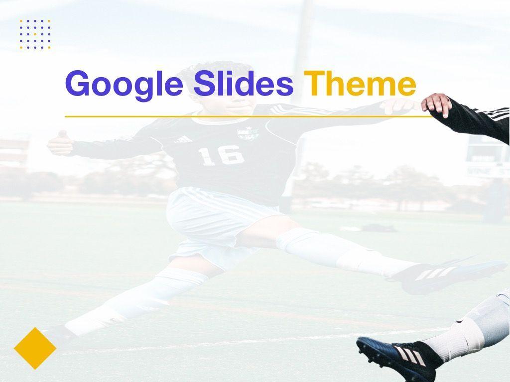 Soccer Google Slides Theme, Slide 6, 06123, Presentation Templates — PoweredTemplate.com