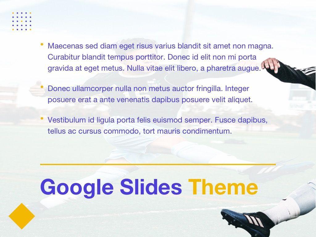 Soccer Google Slides Theme, Slide 9, 06123, Presentation Templates — PoweredTemplate.com