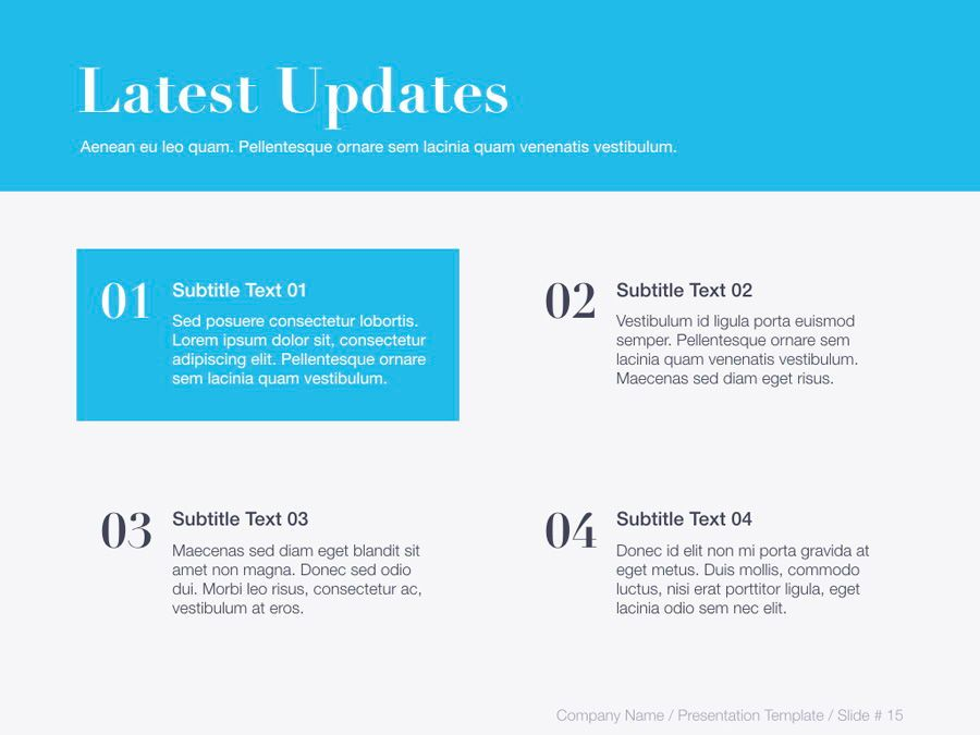 Unblemished Blue PowerPoint Template, Slide 16, 06124, Presentation Templates — PoweredTemplate.com