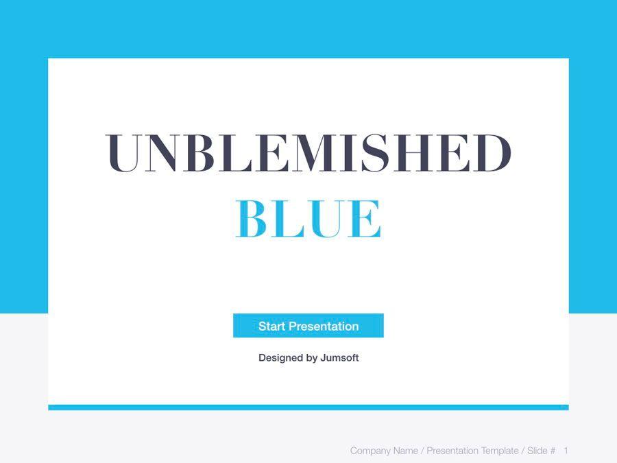 Unblemished Blue PowerPoint Template, Slide 2, 06124, Presentation Templates — PoweredTemplate.com
