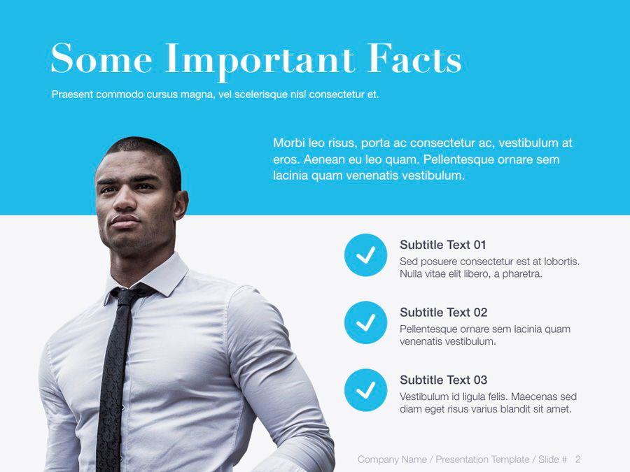 Unblemished Blue PowerPoint Template, Slide 3, 06124, Presentation Templates — PoweredTemplate.com