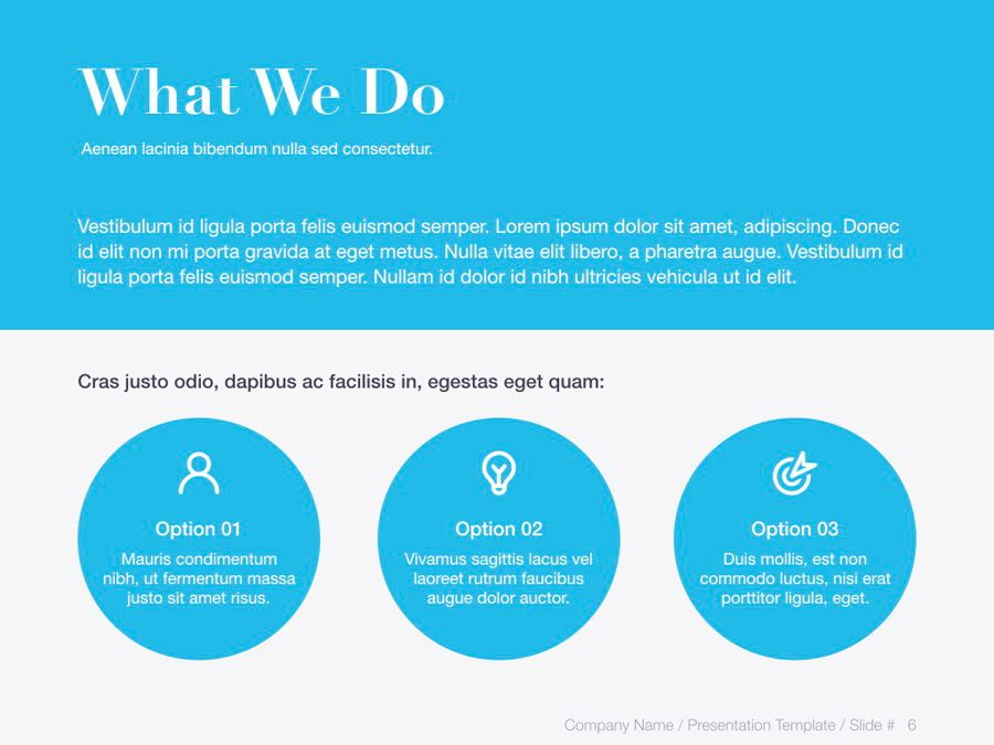 Unblemished Blue PowerPoint Template, Slide 7, 06124, Presentation Templates — PoweredTemplate.com