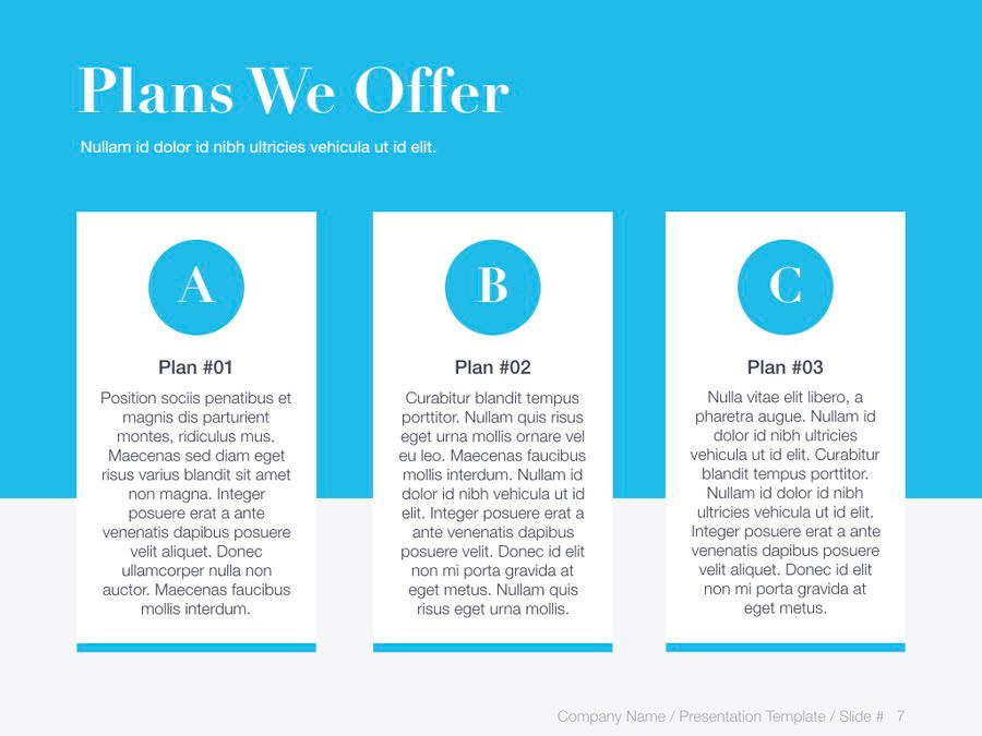 Unblemished Blue PowerPoint Template, Slide 8, 06124, Presentation Templates — PoweredTemplate.com