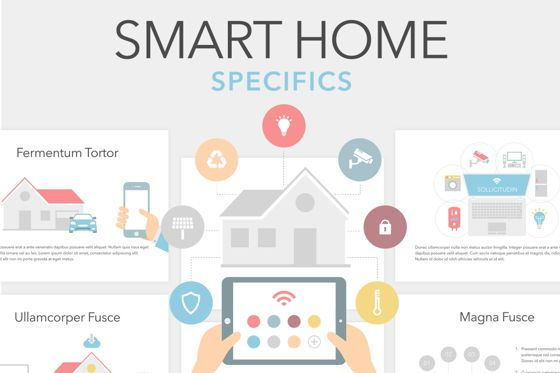 Presentation Templates: Smart Home Keynote Template #06125