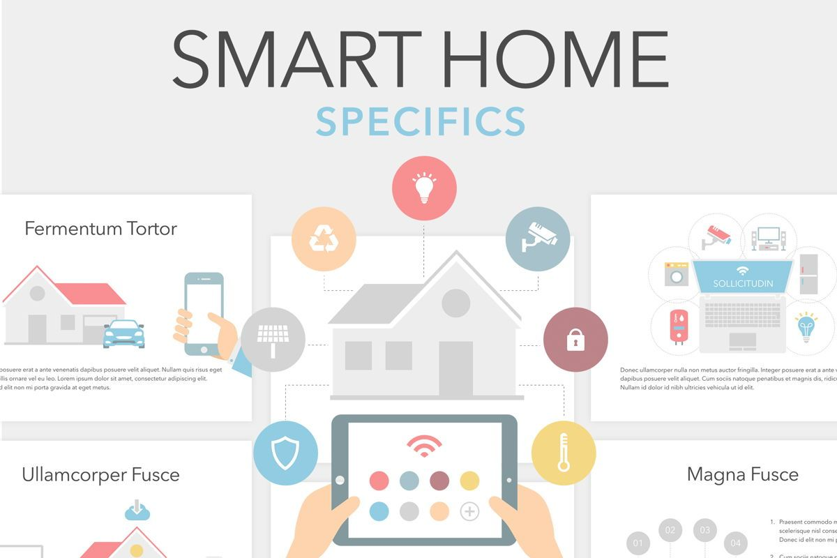Smart Home Keynote Template, 06125, Presentation Templates — PoweredTemplate.com