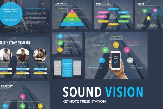 Presentation Templates: Sound Vision Keynote Template #06127