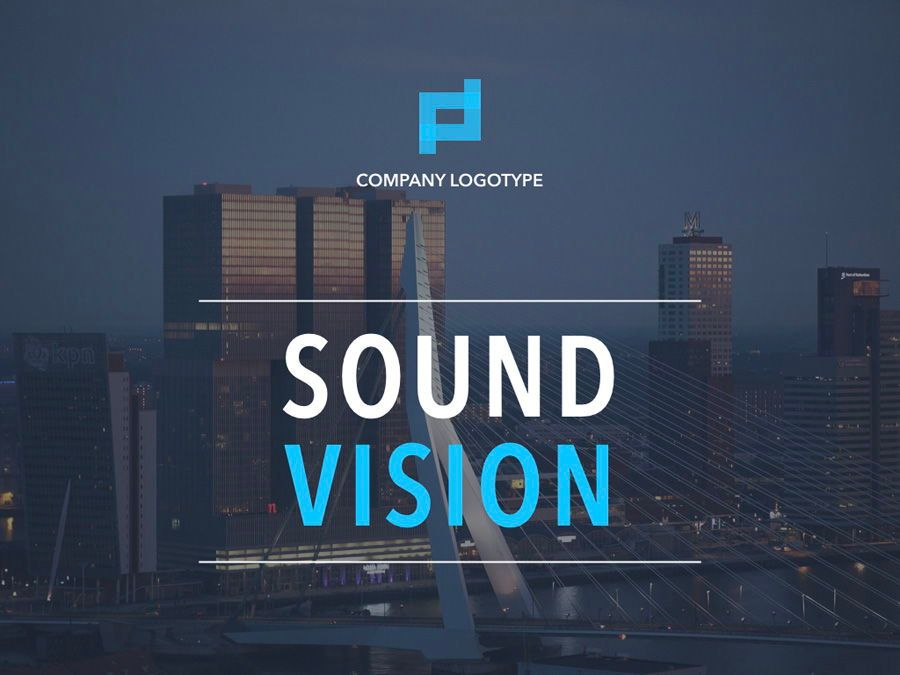Sound Vision Keynote Template, Slide 2, 06127, Presentation Templates — PoweredTemplate.com