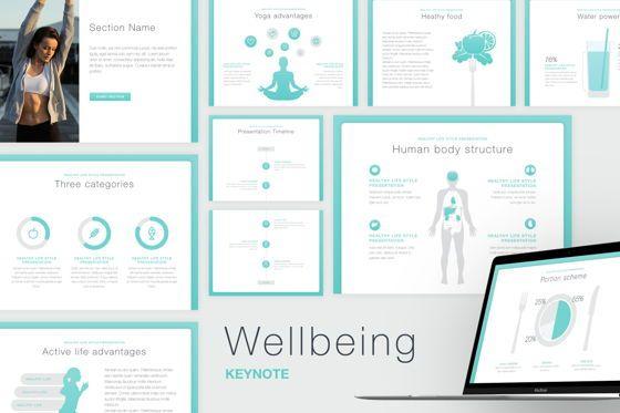 Presentation Templates: Wellbeing Keynote Template #06128