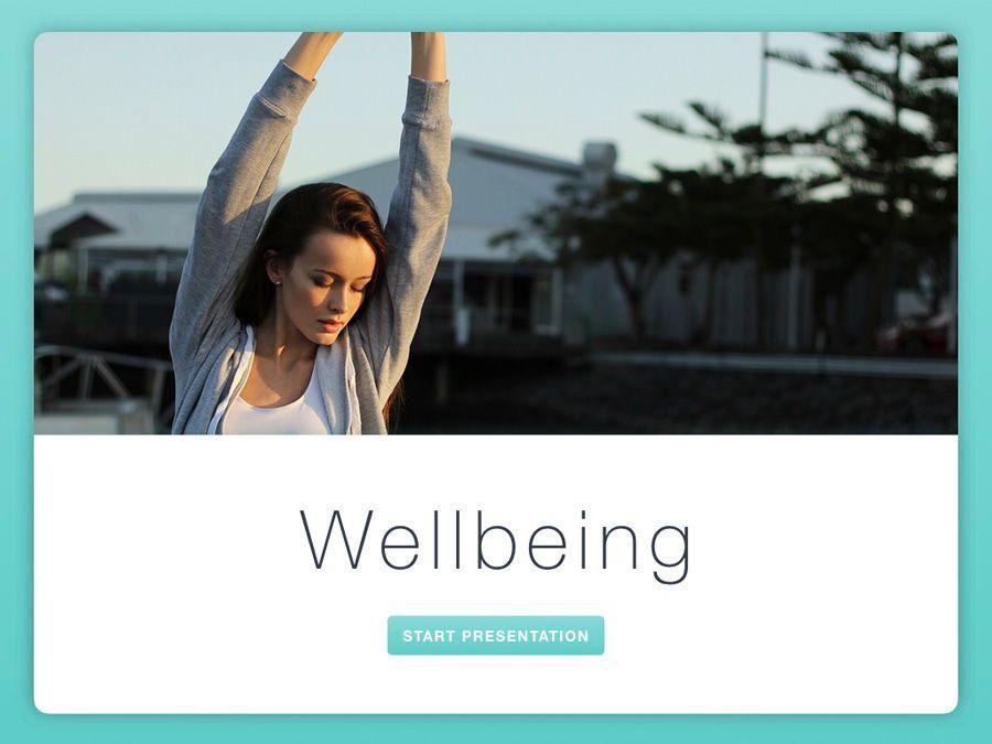 Wellbeing Keynote Template, Slide 2, 06128, Presentation Templates — PoweredTemplate.com