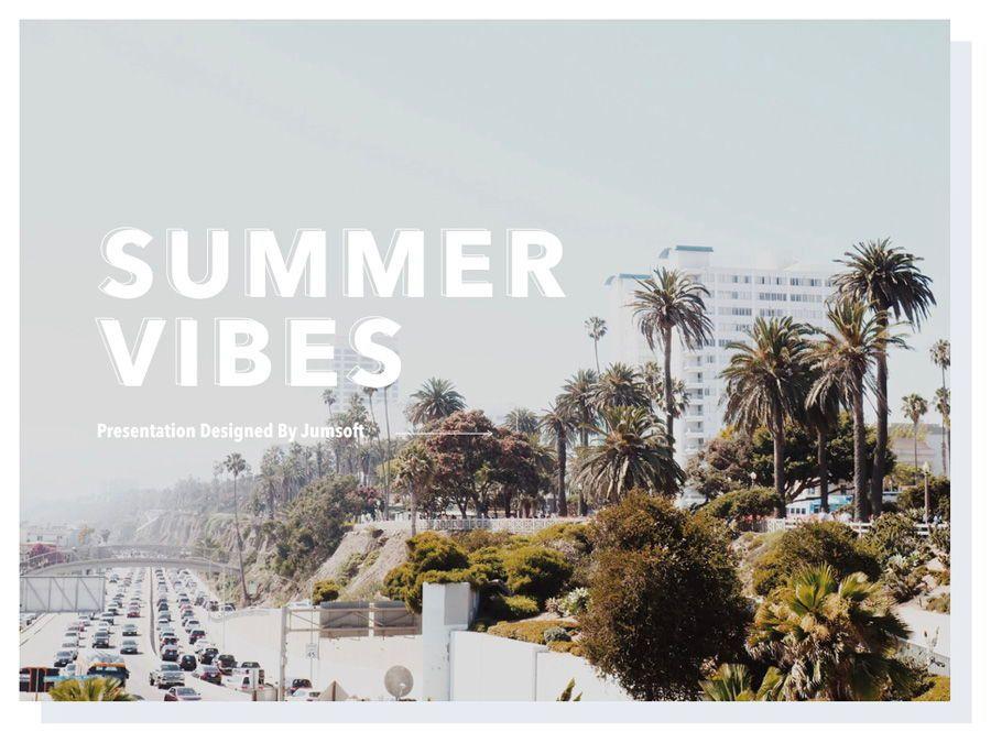 Summer Vibes PowerPoint Template, Slide 2, 06130, Presentation Templates — PoweredTemplate.com